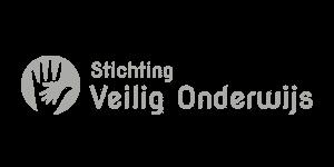 Logo van Stichting Veilig Onderwijs. Zij vervult sociale, veilige wensen van en voor alle scholen.