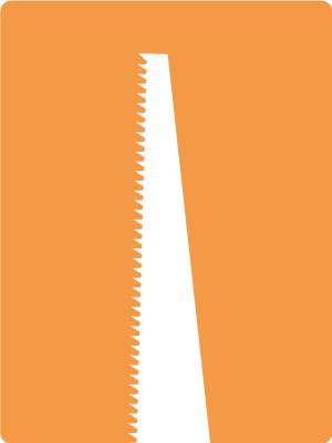 Silhouette van een zaag